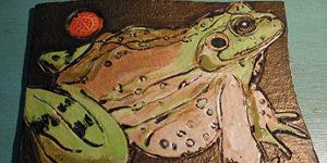 Julie Longstreth Vermont Artist - no straight lines animal wildlife clay tiles