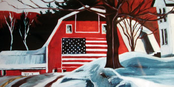Julie Longstreth Vermont Artist - vermont barn scenery paintings