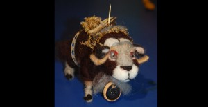 Musk Ox felted armature and artifacts