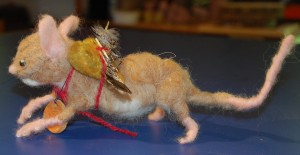 Woodland Mouse felted armature and artifacts
