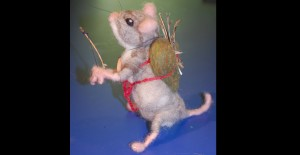Woodland mouse archer - felted armature and artifacts