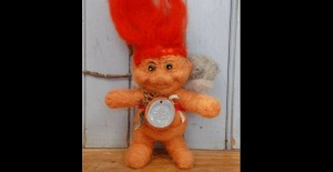 vintage troll felted armature and artifacts